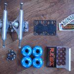 スケボーのウィールとベアリング、デッキテープを交換 skateboard