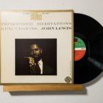 """レコードコレクトの記録 vol.006 """"John Lewis – Improvised Meditations & Excursions"""""""